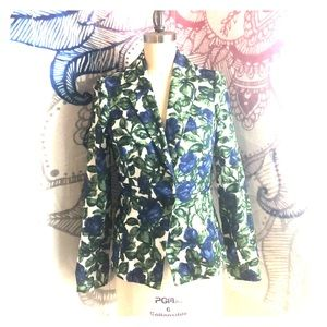 Milly Size 2 Floral Blazer